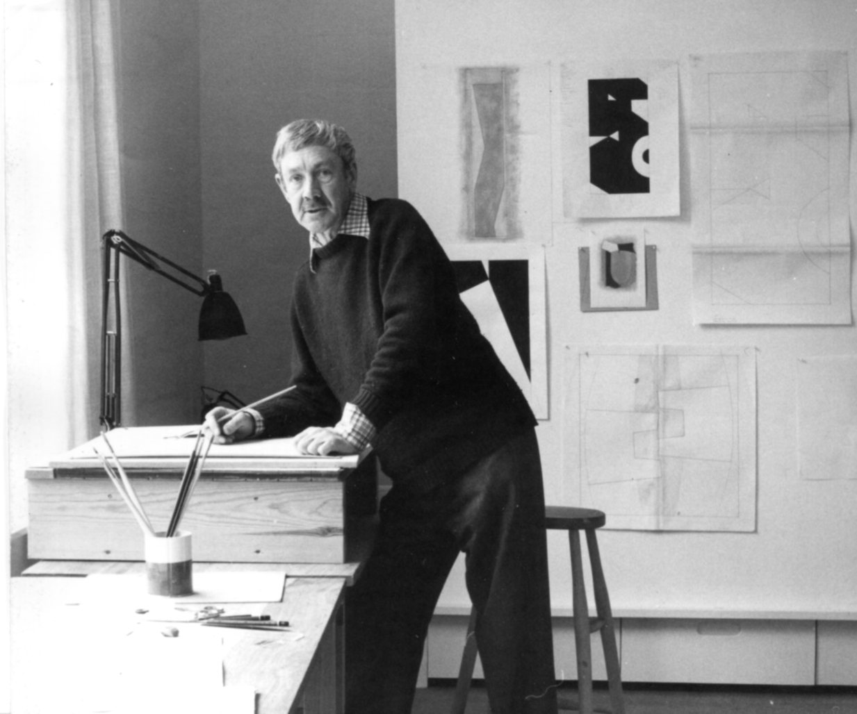george-dannatt-in-his-studio-1976